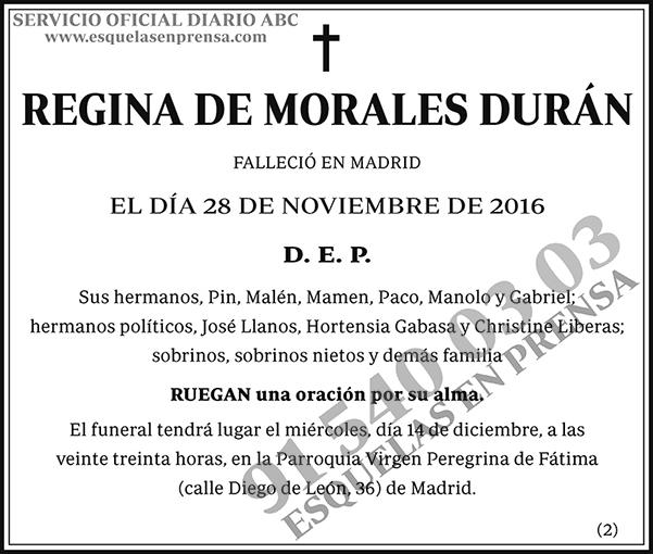 Regina de Morales Durán